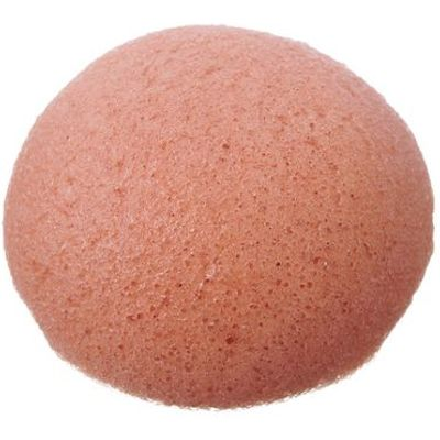 Pure Konjac Puff sponge with French Pink Clay