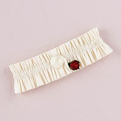 Flower of Love Bridal Garter - Ivory