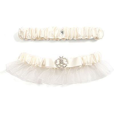 Beverly Clark's Crowned Jewel Bridal Garter - Ivory