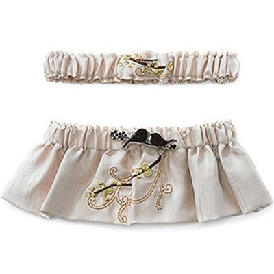 Tweet Nothings Bridal Garter Set