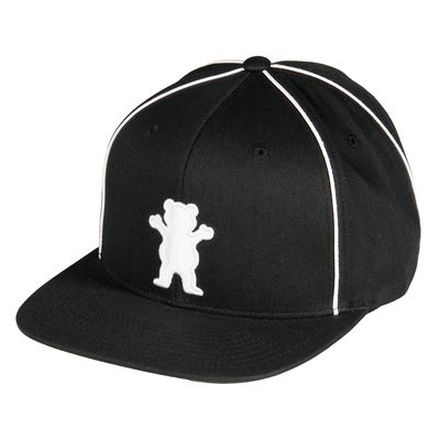 Grizzly Town Snapback Cap - Black