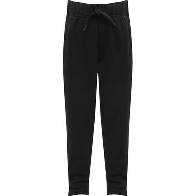 Boys plain cotton jogger casual trouser with drawstring waist Age 3 - 10  - Black