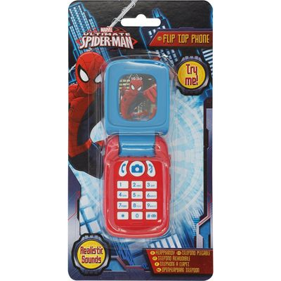 Ultimate Spiderman realistic sound flip mobile phone toy  - Multicolour
