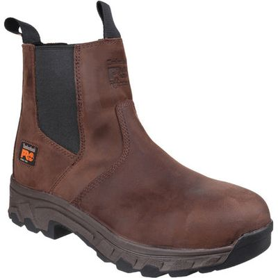 Timberland Pro® Timberland PRO® Workstead Water Resistant Pull on Dealer Safety Boot Brown Size 9