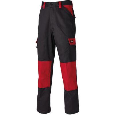Dickies Dickies ED24/7R Black/Red Work Trousers 42 Short