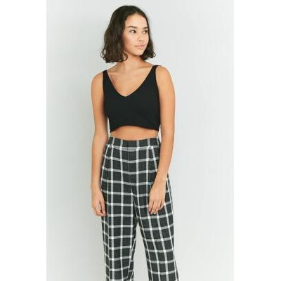 Urban Outfitters V-Neck Cropped Cami, BLACK