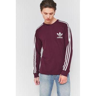 00190382146134 | adidas Maroon Pique Long Sleeve T shirt  MAROON Store