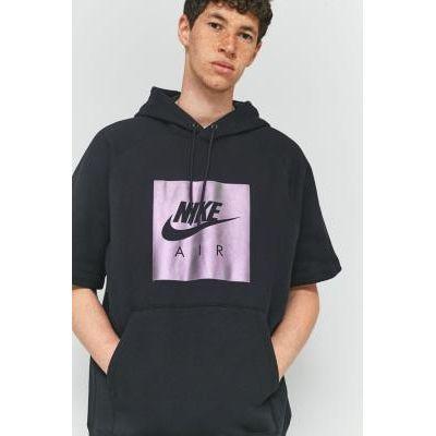 00190382020601 | Nike Sportswear Virus Ink Short Sleeve Hoodie  BLACK Store