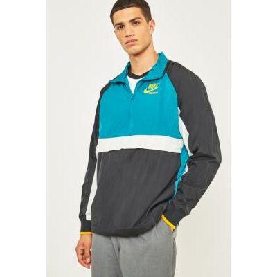 00190382243246   Nike Sportswear Black and Blue Archive HZ Jacket  BLACK Store