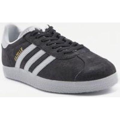 adidas Originals Gazelle Black Suede Trainers, BLACK