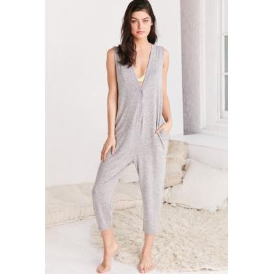 Out From Under Cosy Fleece Jumpsuit, GREY