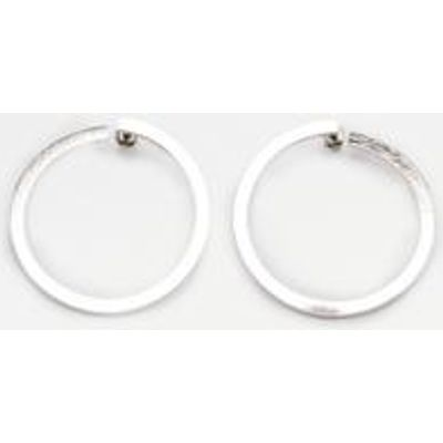 Twisted Circle Stud Earrings, SILVER
