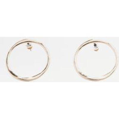 Front Facing Hoop Stud Earrings, GOLD