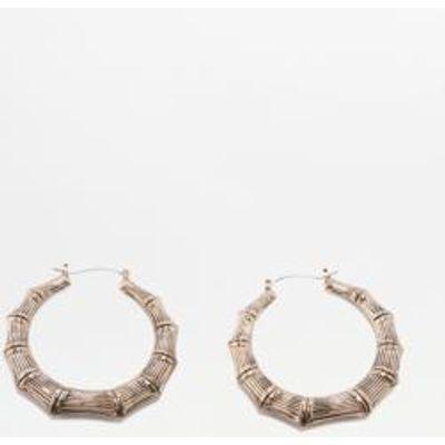 Bamboo Hoop Earrings, GOLD
