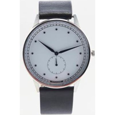 Hypergrand Classic Leather Watch, SILVER