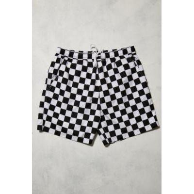 UO Swim Black and White Checkerboard Swim Shorts, ASSORTED