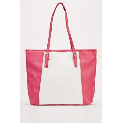 Contrast Panel Tote Bag