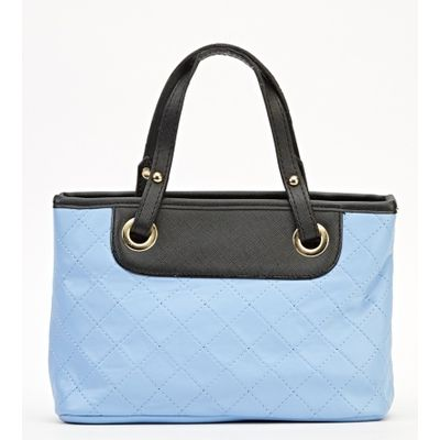 Quilted Checked Mini Handbag