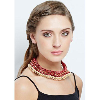 Chunky Bead Embellished Necklace
