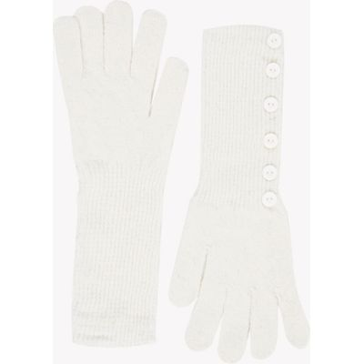 Knitted Button Side Gloves