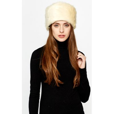 Winter Pill Box Faux Fur Hat