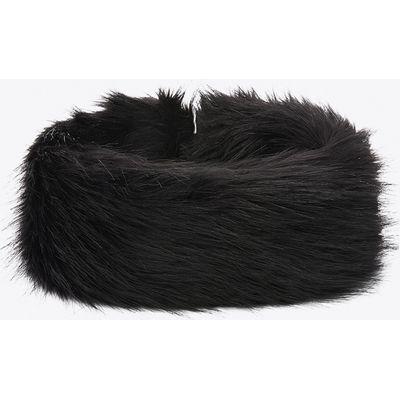 Morzine Faux Fox Headband in Black