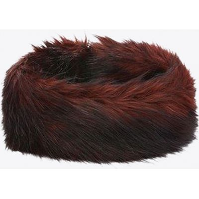 Arosa Faux Fur Headband in Ruby