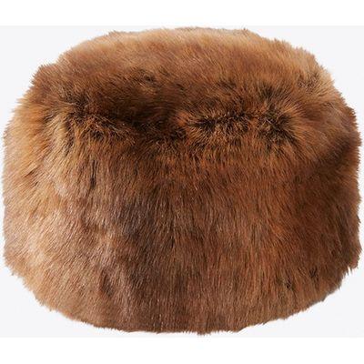 Tiffany Faux Fox Fur Cossack Hat in Pale Brown