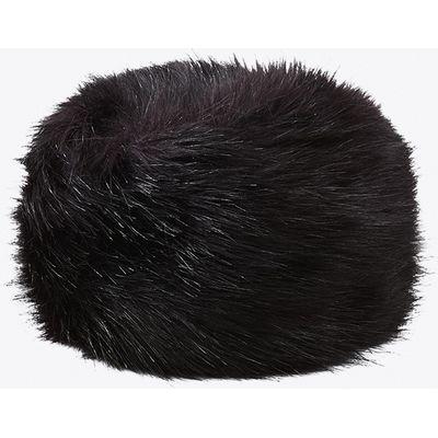 Cordelia Faux Fox Fur Cossack Hat in Black