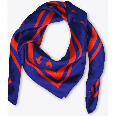 Emma Scarf In Ultramarine And Red