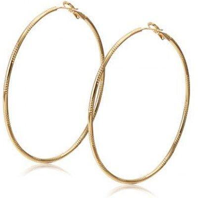 Alloy Engraved Circle Earrings