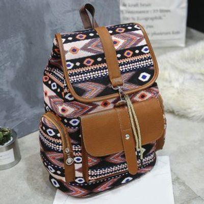 Canvas Tribal Printed Backpack
