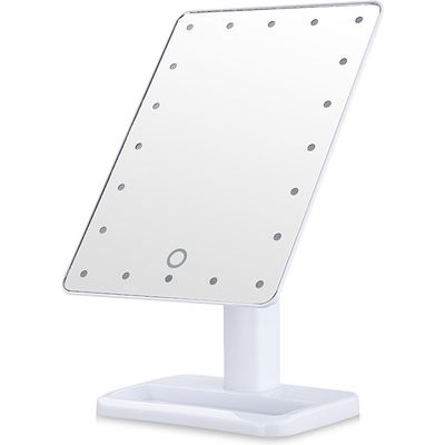 Ovonni L207 LED Touch Screen Makeup Mirror Portable 20 LEDs Lighted Make-up Cosmetic Mirror Adjustab