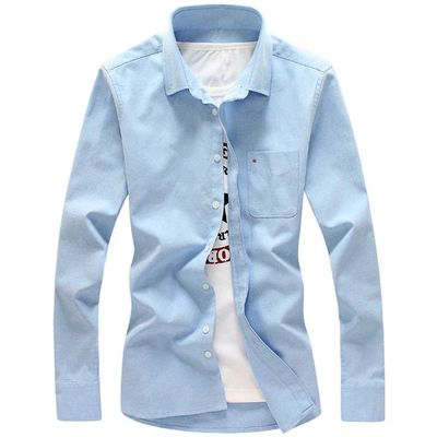 Long Sleeve Chest Pocket Button Down Shirt