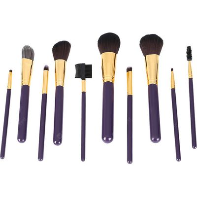 10pcs Foundation Powder Liquid Blending Makeup Brushes