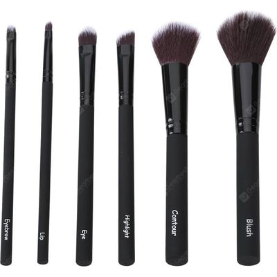 6pcs Professional Foundation Eyeliner Lip Face Makeup Brushes