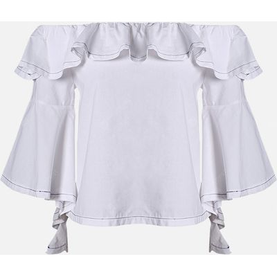 MAI CHUS Pure Cotton Off The Shoulder Batwing Sleeve Tops for Women