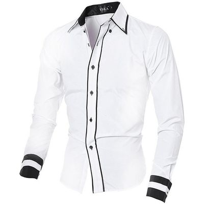 Personality Standard Fit Male Long Sleeved Shirt