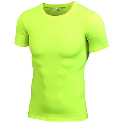 Male Athletic Quick Dry Short Sleeve Tight Shirt