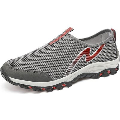 Male Breathable Mesh Outdoor Slip On Boat Leisure Shoes