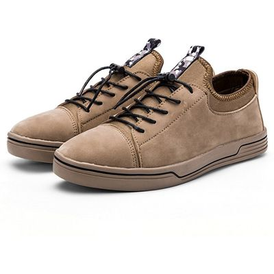 Male Stylish Casual Wearable Lace Up Retro Suede Shoes