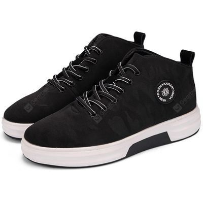 Male Comfortable Soft Pattern High Top Leisure Shoes