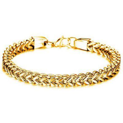 Fashion Retro Solid Color Link Chain Bracelet For Men