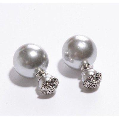 Pair of Women's Shining Pearl Embellished Earrings