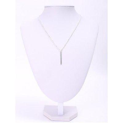 Trendy Women's Solid Color Stick Pendant Necklace