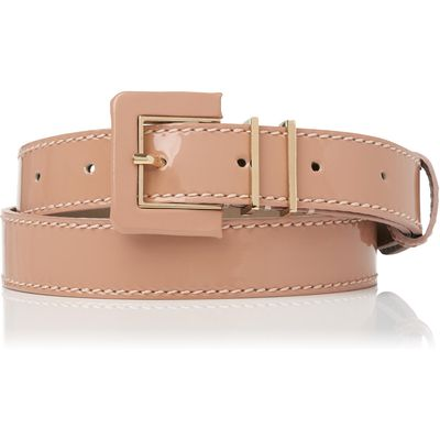 Gena Natural Patent Leather Belt