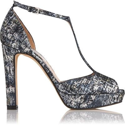 Baileigh Metallic Print Sandals