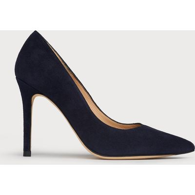 Fern Navy Suede Closed Courts