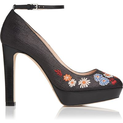 Sunset Raffia Embroidered Courts