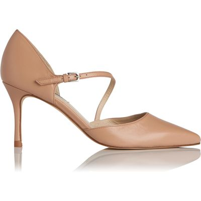 Alix Beige Leather Open Courts